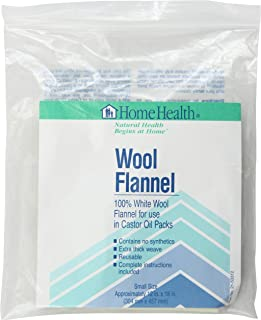 home health white wool flannel