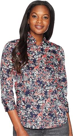 No-Iron Floral Cotton Shirt