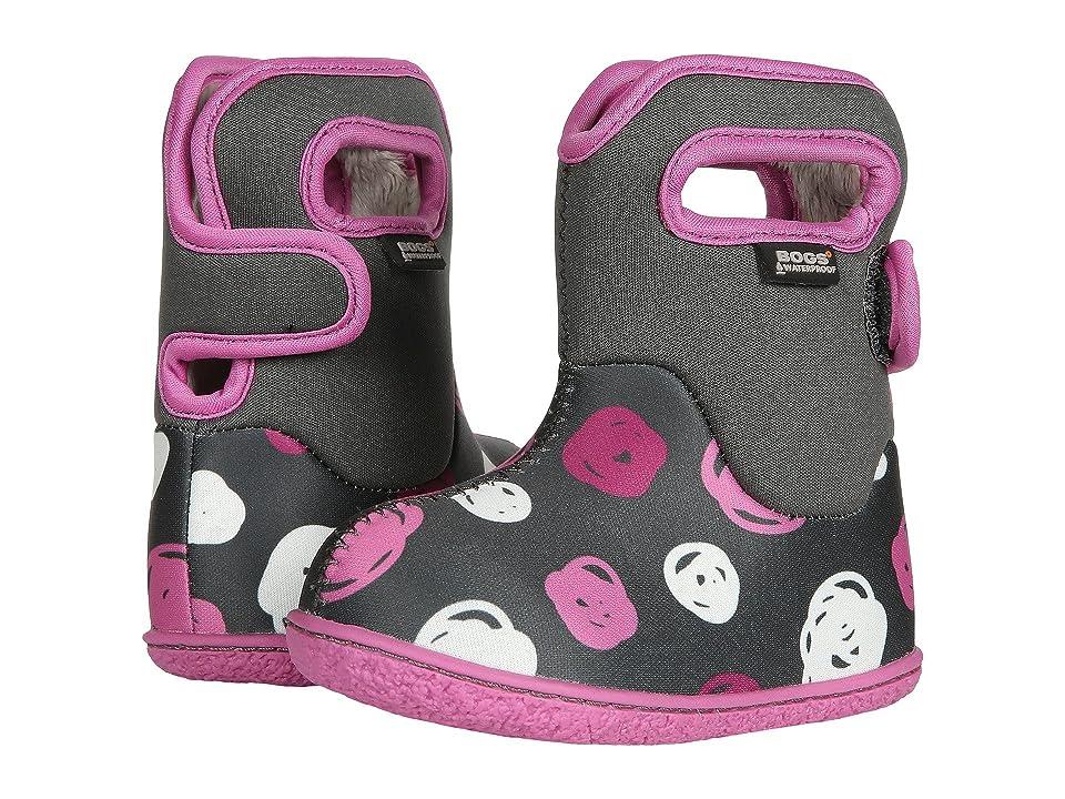 Bogs Kids Baby Bogs Sketch Dots (Toddler) (Dark Gray Multi) Girls Shoes