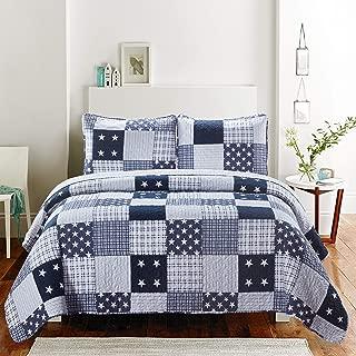 Jessyhome 3-Piece Quilts Coverlet Set Twin Size,Floral Bedspreads Lightweight Em