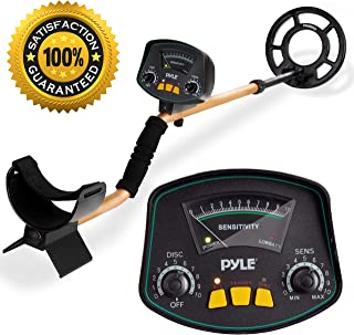 PyleSport Metal Detector - Waterproof Search Coil Extendable Locating Arm 41.3 to 51.2 w/Adjustable Sensitivity and Headphone Jack - Built-in Speaker w/Detection Ping Alert Battery Operated PHMD53