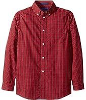Long Sleeve Button Down Tartan Shirt