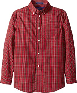 Long Sleeve Button Down Tartan Shirt