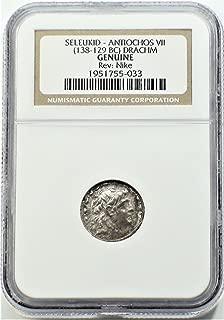 GR 138-129 BC Ancient Seleucid Empire Antiochus VII Antique Silver Coin Rare Coins Drachm Genuine NGC