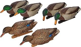 AvianX Top Flight Duck Back Water Mallard Decoy (6 Pack), Green