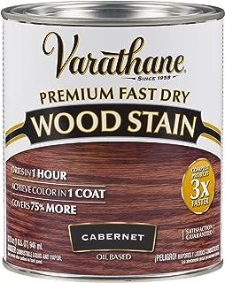 Rust-Oleum 262016 Varathane Fast Dry Wood Stain Quart, Cabernet