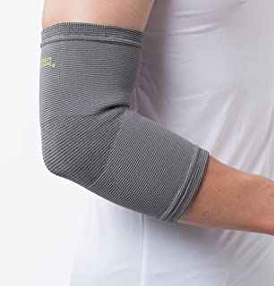 SENTEQ Elbow Compression Sleeve - Bamboo Charcoal Elbow Brace. Medical Grade & FDA Approved. Compression Applied by The Elbow Tendonitis Sleeve & Stimulates Blood Flow (SQ5 F005 XL)