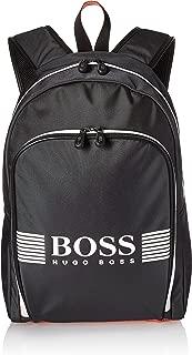 BOSS Green Men's Pixel Nylon Backpack, dark gray, ONE SIZE