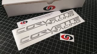 UNDERGROUND DESIGNS Corvette Racing Decal Z06 Sticker LS1 LS2 LS3 LS7 LSX Select Color (Metallic Silver)