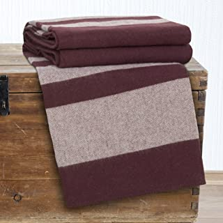 Lavish Home Australian Wool Blanket - Full/Queen - Burgundy