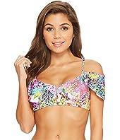 Guajira Superstar V-Ruffle Bikini Top