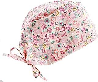 Soft Rose Pink Ribbon Cancer Awareness Scrub Cap Hat