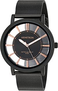 Armitron Men's Black Mesh Bracelet Watch, 20/5412BKTI