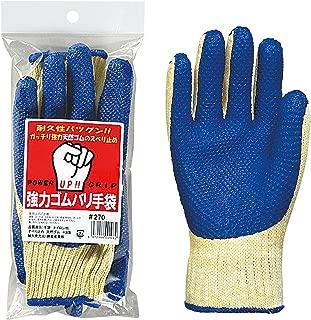勝星産業 強力ゴム張り手袋ブルー 3双組 5組セット #272