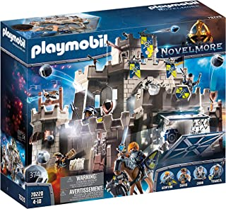 Playmobil 70220 Knights Toy Grand Castle of Novelmore with Traps, Catapult and Stone Throwers