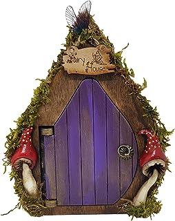 Fantasia fata porta in legno viola