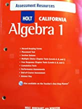 Holt Algebra 1 California: Assessment Resources with Answers Algebra 1