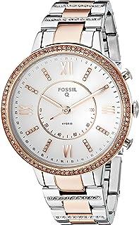 Fossil Virginia Reloj inteligente híbrido de acero inoxidable para mujer