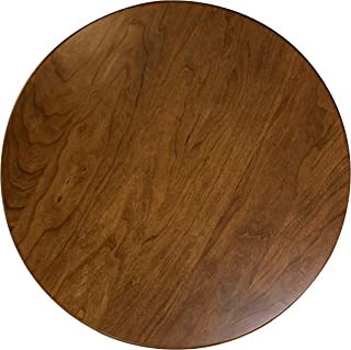 Wood Lazy Susan Turntable – Solid Wooden Spinning Kitchen Table Organizer – Scratch Resistant Felt Bottom – 360 Degree Smooth Rotation Swivel (16