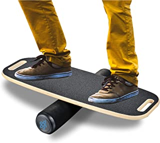 BONA Balance Board Trainer for Fun, Challenging Fitness and Sports Training – 3 Different Distance Options 4, 12 and 21 in...