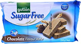 西班牙进口 谷优 Gullon 无糖威化饼干 巧克力味 下午茶休闲零食210g Spain imported Gullon sugar-free wafer biscuits chocolate-flavored afternoon tea snack 210g