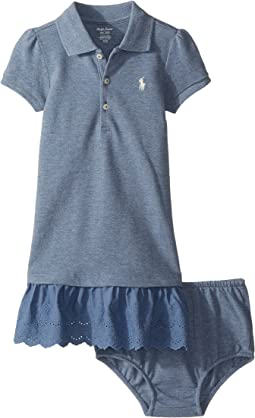 Ralph Lauren Baby - Eyelet Polo Dress & Bloomer Set (Infant)