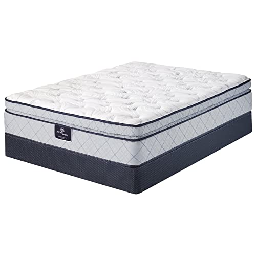 Serta Perfect Sleeper Super Pillow Top Mattress, Cool Gel Foam, Innerspring, King Mattress