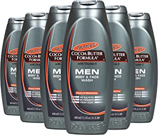 Palmer's Cocoa butter men's body & face wash, 13.5 ounce, 6 Count