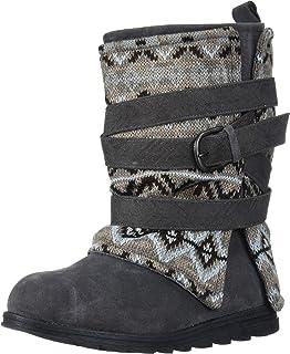 Muk Luks Women's Nikki Boots Mid Calf, Grey, 6 M US
