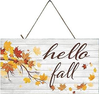 Hello Fall Autumn Decor Wood Sign