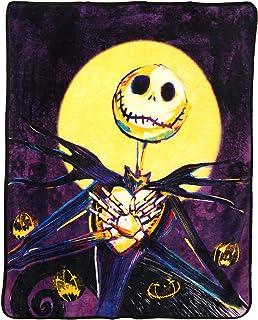 "Disney's Nightmare Before Christmas, ""Pumpkin Delight"" Micro Raschel Throw Blanket, 46"" x 60"", Multi Color"