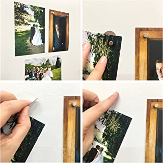 Bullseye Office - The MagnetMaker! Set of 8 Wall Magnets Great for Magnetic Picture Hangers, Stainless Steel Refrigerator/Fridge Magnets, and Picture Hangers Without Nails!