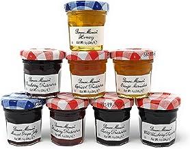 Bonne Maman Assorted Preserves - Strawberry, Apricot, Raspberry, Orange, Cherry, Honey, Grape, Blueberry - 8 jars x 1 oz