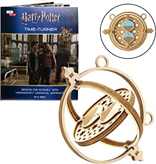 Harry Potter Time Turner Book and 3D Wood Model Figure Kit - Build, Paint and Collect Your Own Wooden Movie Toy Model - for Kids and Adults, 8+ - 4.25