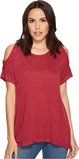 B Collection by Bobeau Top Knit Cold Shoulder