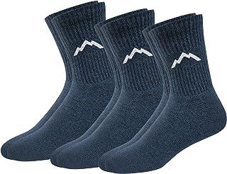 Ranger Sport Men's Heavy Duty Cotton Crew Athletic Socks, Pack of 3