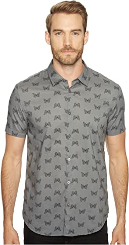 Mayfiled Slim Fit Sport Shirt with Cuffed Short Sleeves W443T1B