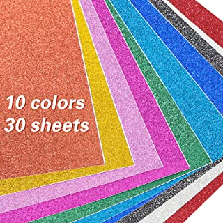 A4 Glitter Paper Sparkles Self Adhesive Craft Vinyl Sheets Sparkling Sticker Metallic for Children's Craft Cutters Art Mul...
