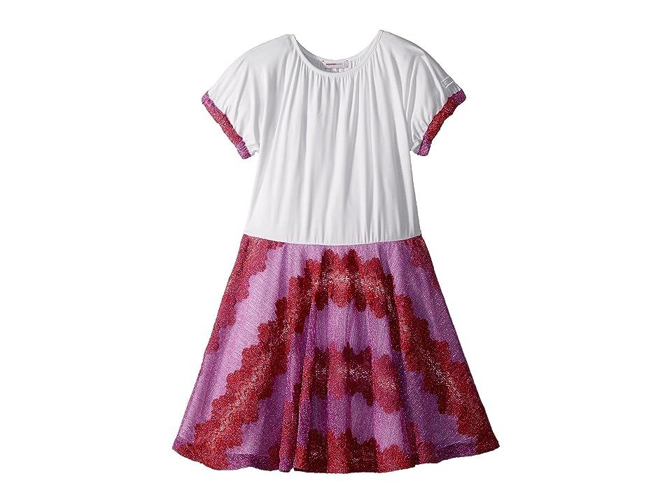 Missoni Kids Lace Lame Rigato Dress (Big Kids) (Pink) Girl