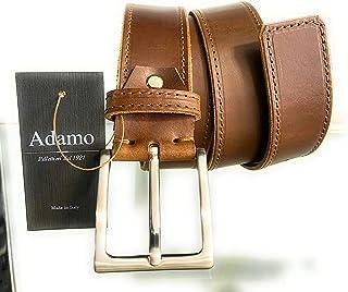 Cintura Uomo in vero cuoio fatta a mano in Italia + scatola regalo