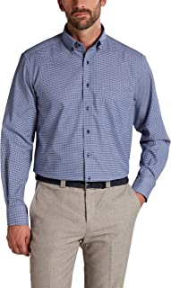 Eterna Long Sleeve Shirt Comfort FIT Twill Checked