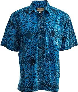 2f3aaee73621d Johari West Geometric Forest Tropical Hawaiian Cotton Shirt