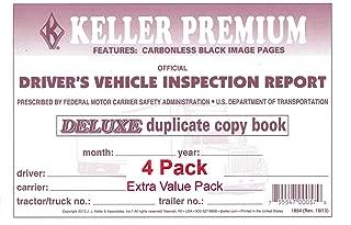 J. J. Keller 115B Detailed Drivers Vehicle Inspection Report, 2-Ply, Carbonless - Pack of 4