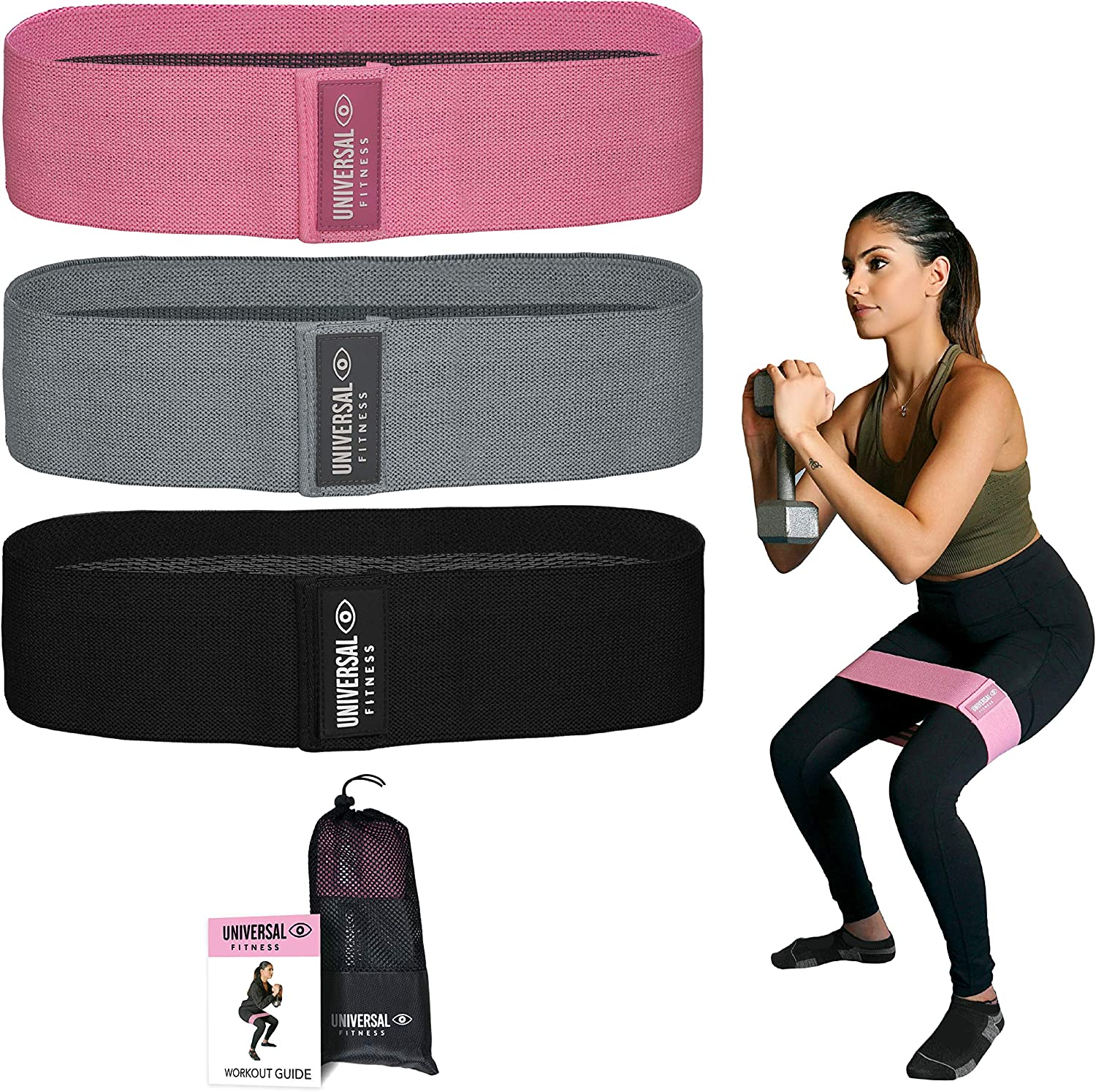 Max 74% OFF Resistance Exercise Bands Fabric Non Slip Squats for Hip Regular dealer