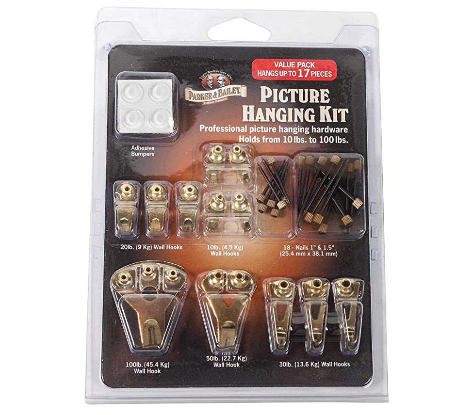 Parker & Bailey 17 Piece Professional Picture Hanging Kit, 2 Packs