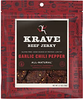 KRAVE Jerky Beef, Garlic Chili Pepper, 2.7 Ounce