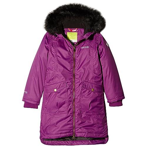 e5101d92d7a7 Regatta Kids Girls Hollybank Parka Waterproof Insulated Jacket