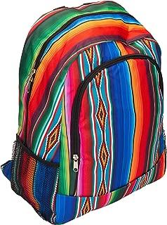 Serape Patterned 14 x 17 Inch Large Microfiber Zipper Padded Backpack