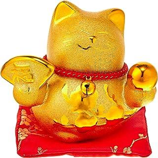エールネット(Ale-net) 金運招き猫 (金球) バンク 7.5×10×8.8cm