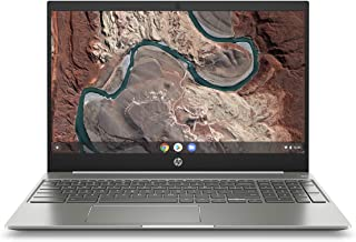 HP Chromebook 15-Inch Laptop, Micro-EDGE Touchscreen, Dual-Core Intel Pentium Gold 4417U Gold Processor, 4 GB SDRAM, 64 GB eMMC Storage, Chrome OS (15-de0010nr, Ceramic White/Mineral Silver)